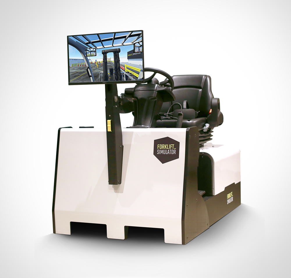 Sit Down Counterbalance Forklift Simulator front